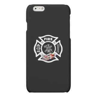 Red Fire Truck Rescue Matte iPhone 6 Case