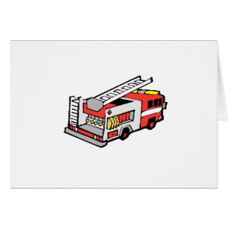 Red Fire Truck Stationery Note Card