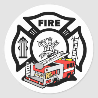 Red Fire Truck Stickers