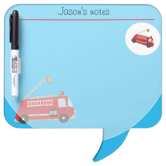 red fire truck vintage style in red Dry-Erase board