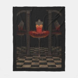 Red Firebird Classical Ballet Tutu Reflections Fleece Blanket