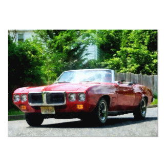 Red Firebird Convertible Card