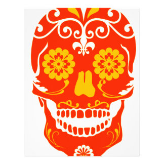 RED FIRED SKULL LETTERHEAD