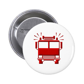 Red Firetruck Pinback Buttons