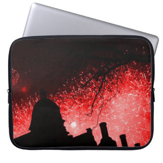 Red Firework Nightsky Laptop Sleeve