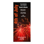 red fireworks 4th of july invitation