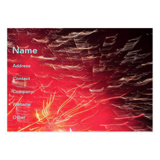 Red fireworks business card