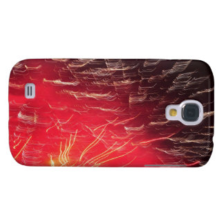 Red fireworks galaxy s4 covers