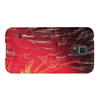 Red fireworks case for galaxy s5
