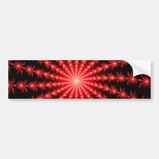 Red Fireworks - fractal design Bumper Sticker