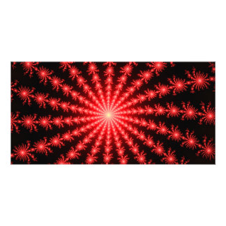 Red Fireworks - fractal design Card