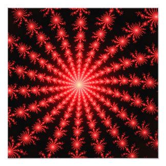 Red Fireworks - fractal design Photo