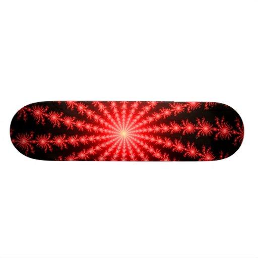 Red Fireworks - fractal design Skate Board Deck