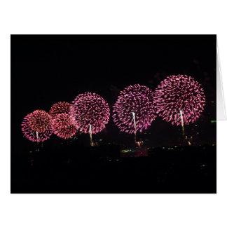 Red Fireworks I BIG card
