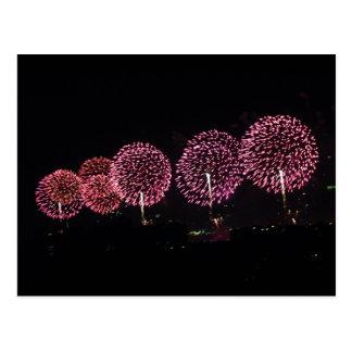 Red Fireworks I Postcard