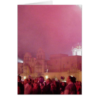 Red Fireworks In Balboa Park Greeting Cards