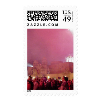 Red Fireworks In Balboa Park Stamps