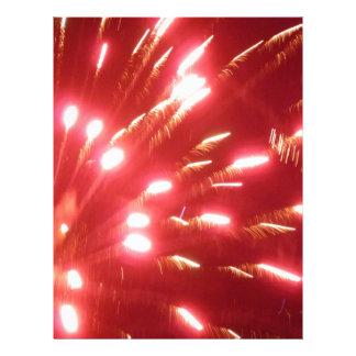 Red Fireworks Customized Letterhead