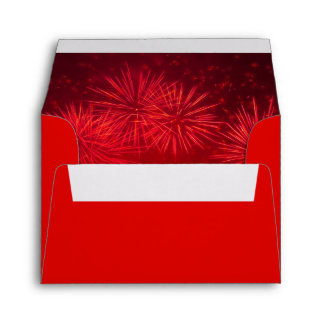 Red Fireworks Lunar New Year Money Envelopes