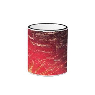 Red fireworks mug