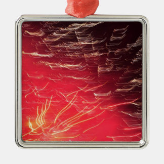 Red fireworks christmas tree ornament