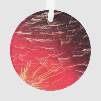 Red fireworks ornament