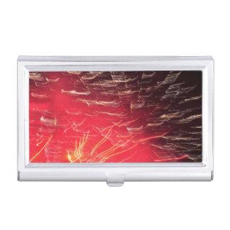 Red fireworks business card holder