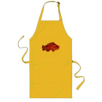 Red Fish Long Apron