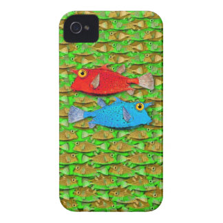 red fish - blue fish - many fish Case-Mate iPhone 4 case