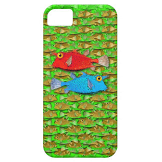 red fish - blue fish - many fish iPhone 5 cases