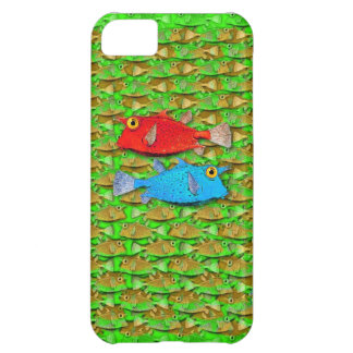 red fish - blue fish - many fish iPhone 5C case