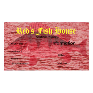 Red Fish business card