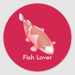 Red fish for fish lovers stickers