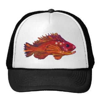 Red Fish Mesh Hats