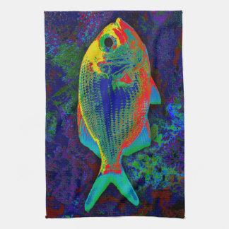 Red Fish Kitchen Towel
