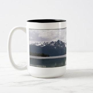 Red Fish Lake Idaho Two-Tone Coffee Mug