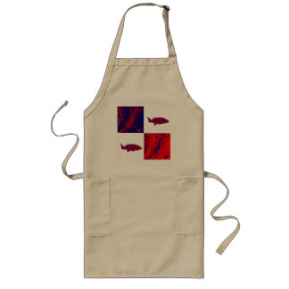 Red Fish! Long Apron