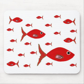 Red Fish Mouse Pad