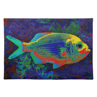 Red Fish Cloth Placemat
