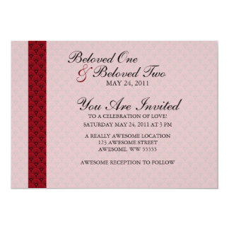 Red Fish Scale Elegant Pattern Card
