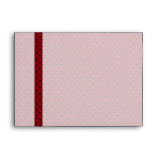 Red Fish Scale Elegant Pattern Envelope