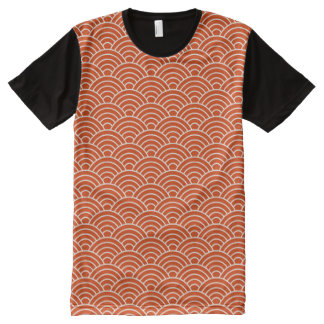 Red Fish Scales All-Over-Print T-Shirt