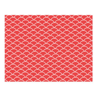 Red Fish Scales Postcard