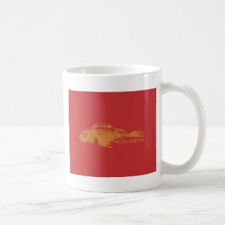 Red Fish Sea Monster Coffee Mugs