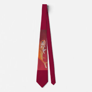 red fish tie