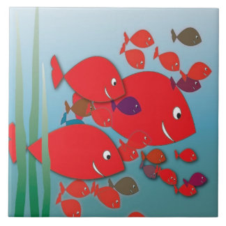 Red Fish Tile