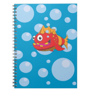 Red Fish with Stitches Notebook