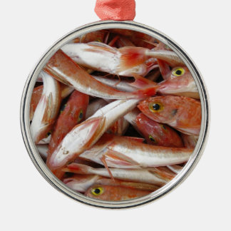 Red Fish with Yellow Eyes Metal Ornament