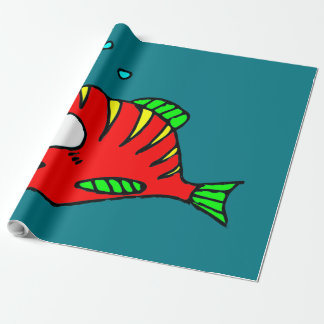 Red Fish Wrapping Paper
