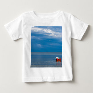 Red fishing boat on the Baltic Sea Baby T-Shirt